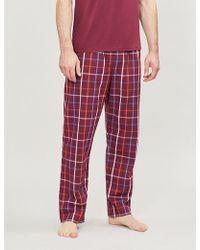Derek Rose - Checked Cotton Pyjama Bottoms - Lyst