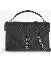 e497114e4b Saint Laurent - Monogram College Quilted Leather Shoulder Bag - Lyst