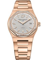 Girard-Perregaux - 80189d52a132-52a Laureato Pink Gold And Diamond Watch - Lyst