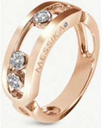 Messika - Classic Move 18ct Rose-gold And Diamond Ring - Lyst