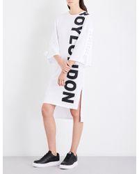 BOY London - Logo-print Cotton-jersey Dress - Lyst