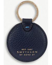 Smythson - Burlington Disc Leather Keyring - Lyst
