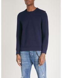 The Kooples - Zip-detail Wool-blend Jumper - Lyst