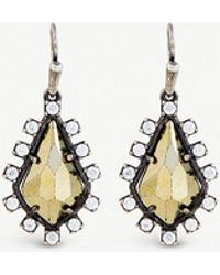 Kendra Scott - Juniper Antique Silver-plated Brass And Pyrite Earrings - Lyst