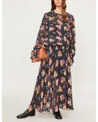 Preen Line - Rylee Printed Chiffon Maxi Dress - Lyst