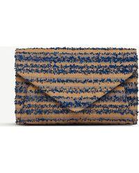 6bf1ea8499e L.K.Bennett - Lorna Envelope Clutch Bag - Lyst