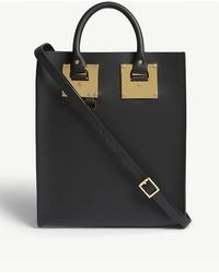Sophie Hulme - Black Mini Albion Leather Tote Bag - Lyst