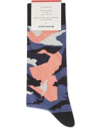 Björn Borg | Mens Blue Coral Luxury Camouflage Cotton-blend Socks | Lyst