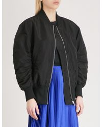 Mo&co. - Tulle-layer Bomber Jacket - Lyst