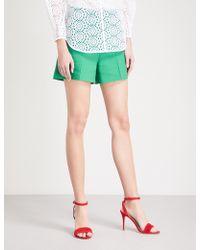Sandro - High-rise Cotton-blend Shorts - Lyst