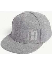 HUGO - Reversed Logo Wool-blend Snapback Cap - Lyst