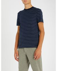 Ralph Lauren Purple Label - Striped Cotton-jersey Crewneck T-shirt - Lyst