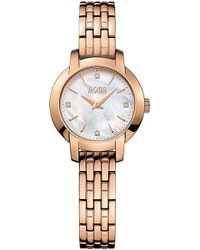 BOSS - 1502379 Success Rose Gold-plated Stainless Steel Watch - Lyst