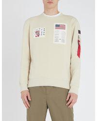 Alpha Industries - Blood Chit Cotton-jersey Sweatshirt - Lyst