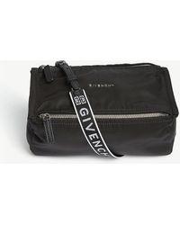 Givenchy - Pandora Mini Logo Nylon Messenger Bag - Lyst