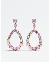 BUCHERER JEWELLERY - Pastello 18ct Rose-gold And Sapphire Earrings - Lyst