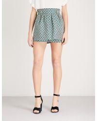 Maje - Iden Floral-pattern Jacquard Shorts - Lyst