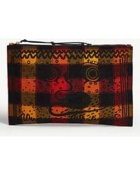 Vivienne Westwood - Maasai Suka Greek Eyes Checked Canvas Pouch - Lyst