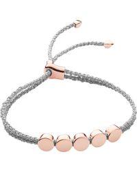 Monica Vinader - Linear Bead 18ct Rose-gold Vermeil Friendship Bracelet - Lyst