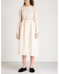 Renli Su - Pocket-detail Woven Midi Dress - Lyst