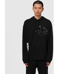 1017 ALYX 9SM Flag Ring Long Sleeve Hooded T-shirt - Black