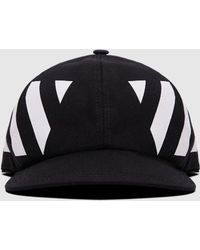 Off-White c/o Virgil Abloh - Striped Cotton-canvas Cap - Lyst