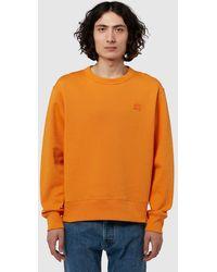 Acne Studios Fairview Face Sweatshirt - Orange