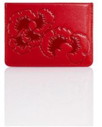 Shanghai Tang - Gingko Embossed Flat Card Case - Lyst