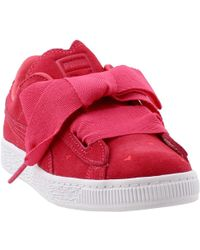 Lyst - PUMA Suede Heart Valentine Infant Training Shoes in Pink 44b86ce00