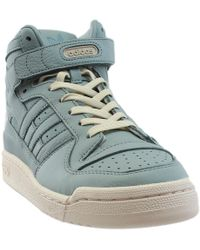 cbae56df349 Lyst - adidas Forum Mid Refined in Blue for Men