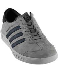 adidas originali amburgo grey scarpa in grigio per gli uomini lyst