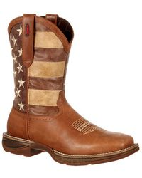 Durango - Rebel By Faded Union Flag Western Boot - Lyst