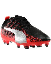 6a1af6aba31a PUMA Evopower Vigor 1 Firm Ground Graphic Football Boots In Black ...