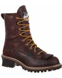 Georgia Boots - Georgia Boot Steel Toe Waterproof Logger Boot - Lyst