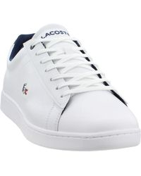 e0fe537c7 Lyst - Lacoste Mens White   Light Grey Carnaby Evo 318 6 Trainers ...