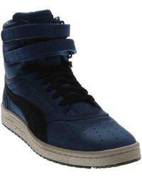 4e6afca17b7432 Lyst - Puma Sky Ii Hi Fg Foil Silver High Top Sneakers in White for Men