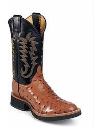 Justin Boots - Cognac Full Qull Ostrich Cognac Full Qull Ostrich - Lyst
