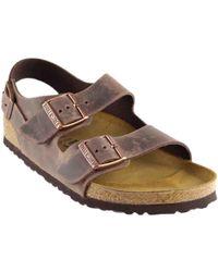 Birkenstock - Milano Leather Heel Strap - Lyst