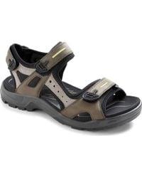 c4762a2b7ea0 Lyst - Ecco Men s Offroad Lite Cheja Sandals in Black for Men