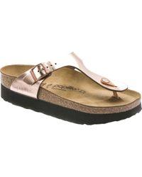 3a95689c1cdd Birkenstock - Papillio Gizeh Platform Thong Sandal - Lyst