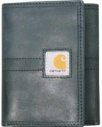 Carhartt - Legacy Trifold Full Grain Leather Wallet - Lyst