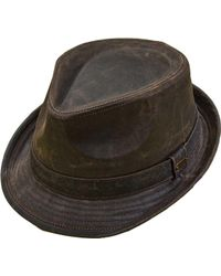 7bf32b03d2c Stetson - Stw279 Weathered Fedora - Lyst