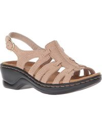 02a95849fc9 Lyst - Clarks Lexi Walnut Strappy Sandals in Metallic