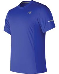 New Balance - Mt73916 Short Sleeve 5k Run Tech Tee - Lyst