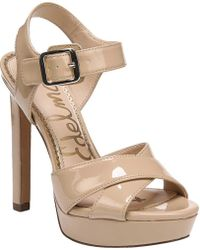 f186ed3fd1c Lyst - Michael Michael Kors Willa Open Toe Suede Sandals in Pink