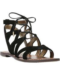 2a64acc8cc3 Lyst - Sam Edelman Gemma Gladiator Sandals in Black