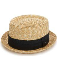 Original Penguin   Round Top Straw Porkpie Hat   Lyst