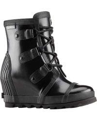 Sorel - Joan Rain Wedge Gloss Boot - Lyst