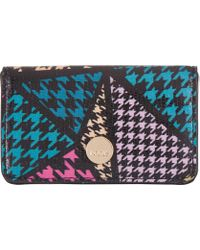 Lodis - Houndstooth Rfid Mini Card Case - Lyst