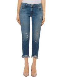 J Brand - Sadey Mid Rise Slim Straight Fit Jean In Ardent - Lyst